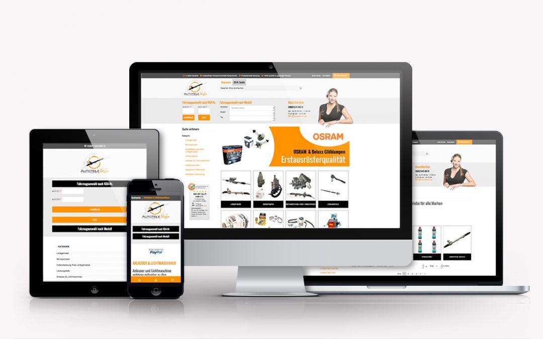 Webshop-Relaunch für Autoteile Jakobs GmbH