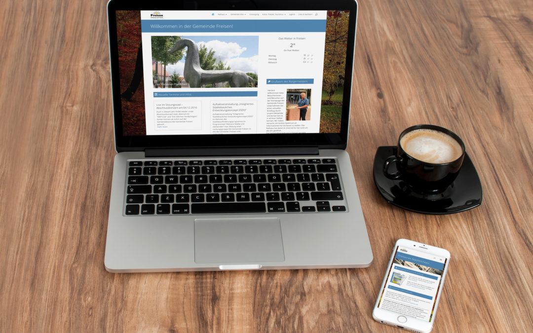 Responsive Webseite für Gemeinde Freisen